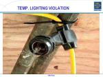 temp lighting violation