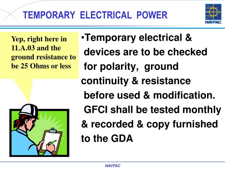 TEMPORARY  ELECTRICAL  POWER