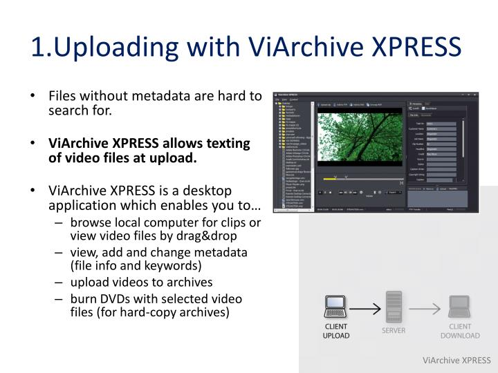 1.Uploading with ViArchive XPRESS