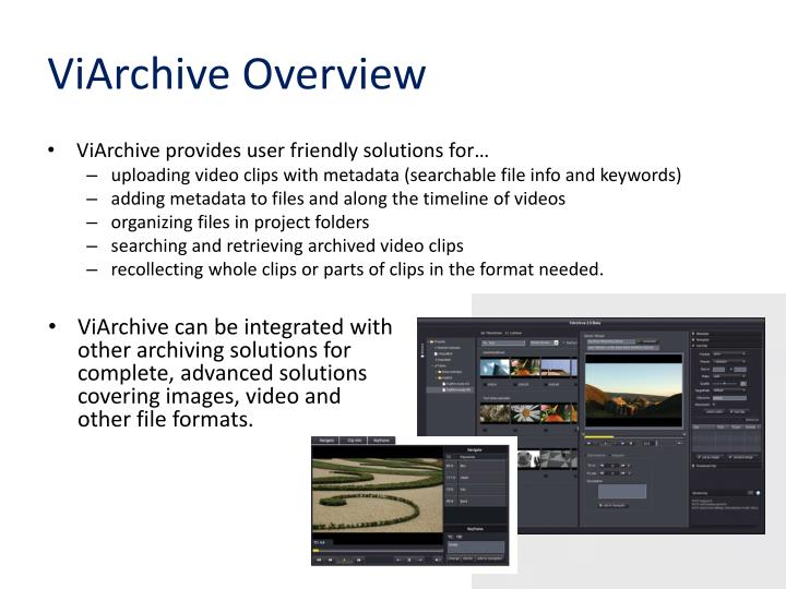 ViArchive Overview