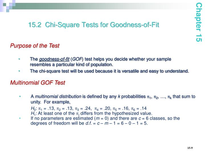 15.2  Chi-Square Tests
