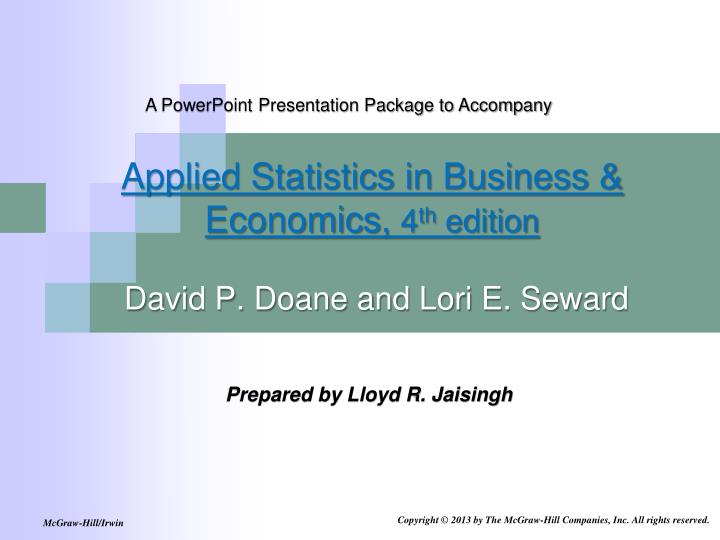 A PowerPoint Presentation Package to Accompany