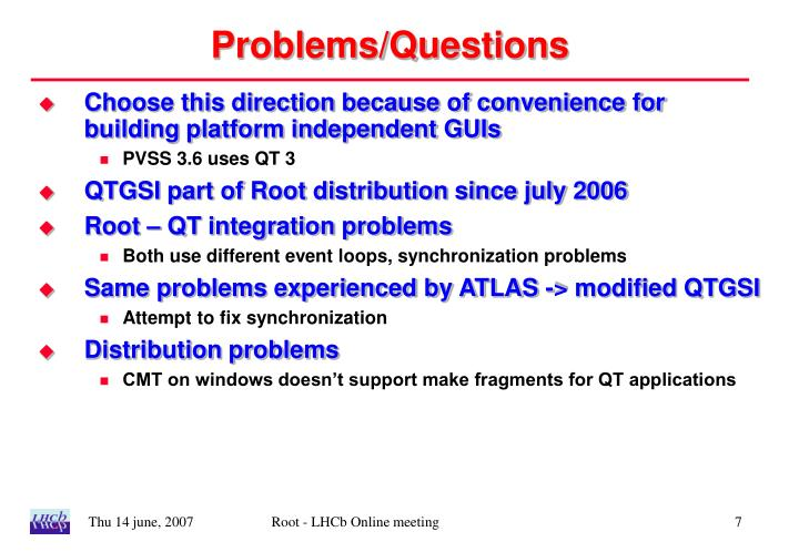 Problems/Questions
