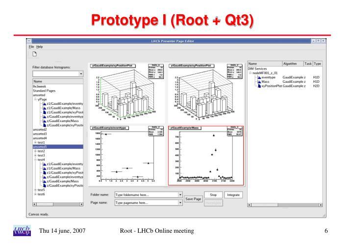 Prototype I (Root + Qt3)