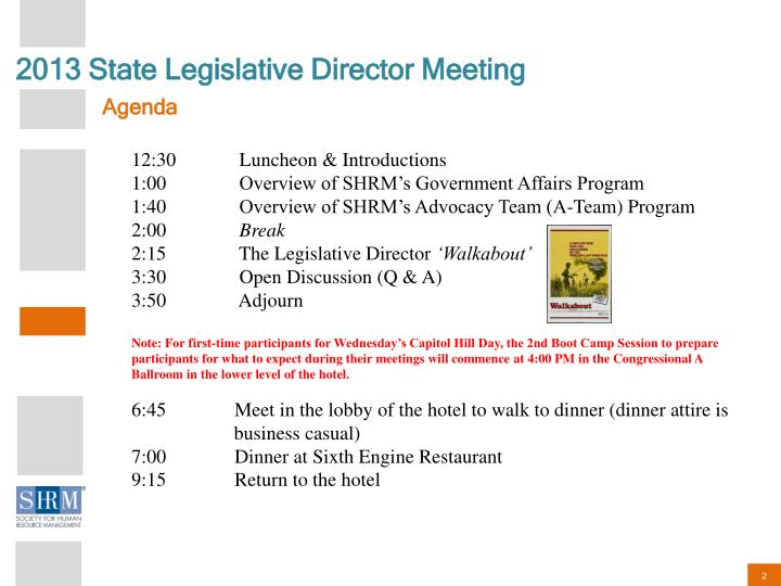 2013 State Legislative Director Meeting