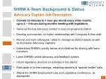 shrm a team background status7