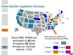 state specific legislative advocacy