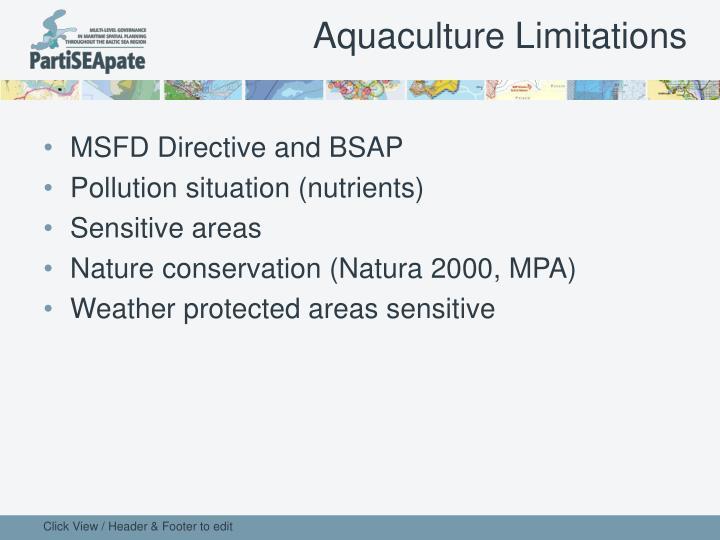 Aquaculture Limitations