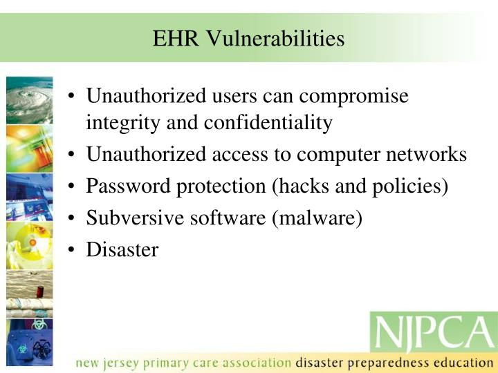 EHR Vulnerabilities