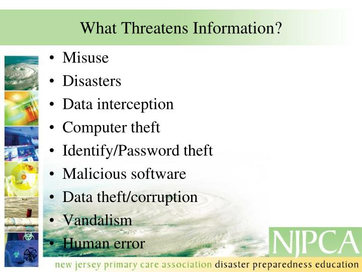 What Threatens Information?