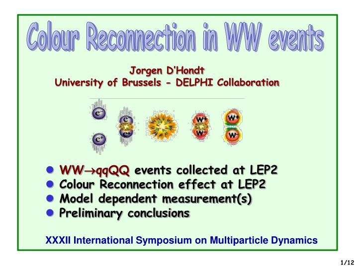 Colour Reconnection in WW events