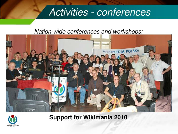 Activities - conferences