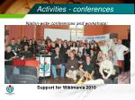activities conferences