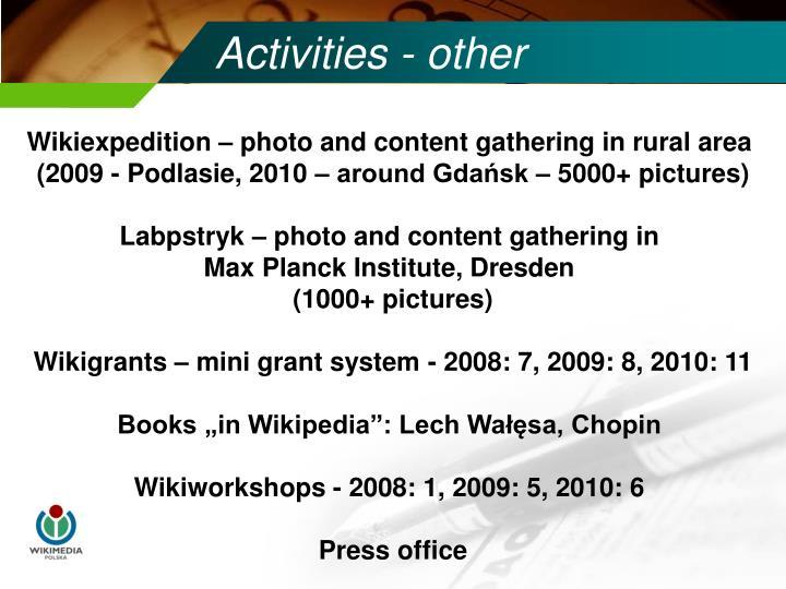 Activities - other