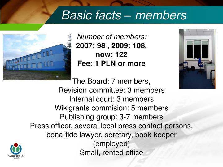 Basic facts – members