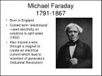 michael faraday 1791 1867