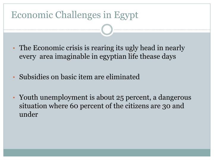 Economic Challenges in Egypt