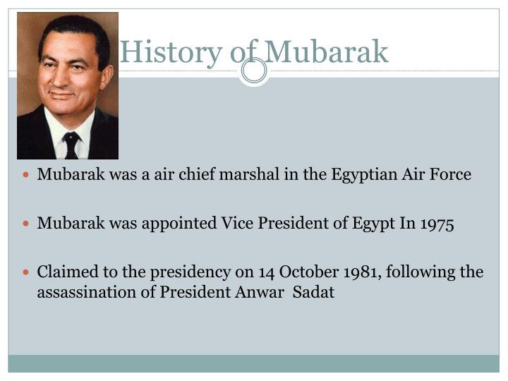History of Mubarak