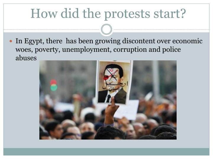 How did the protests start?