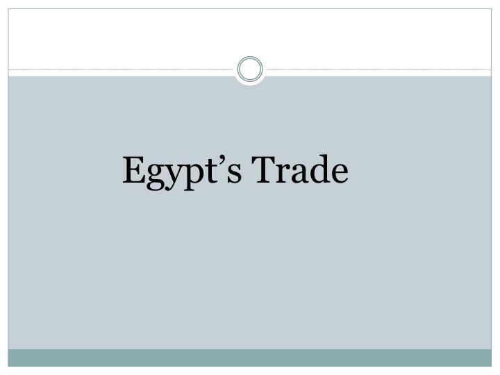 Egypt's Trade