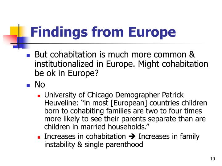 Findings from Europe