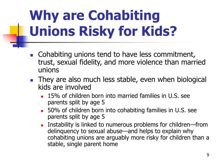 Why are Cohabiting Unions Risky for Kids?