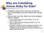 why are cohabiting unions risky for kids