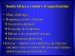 south africa a country of opportunities