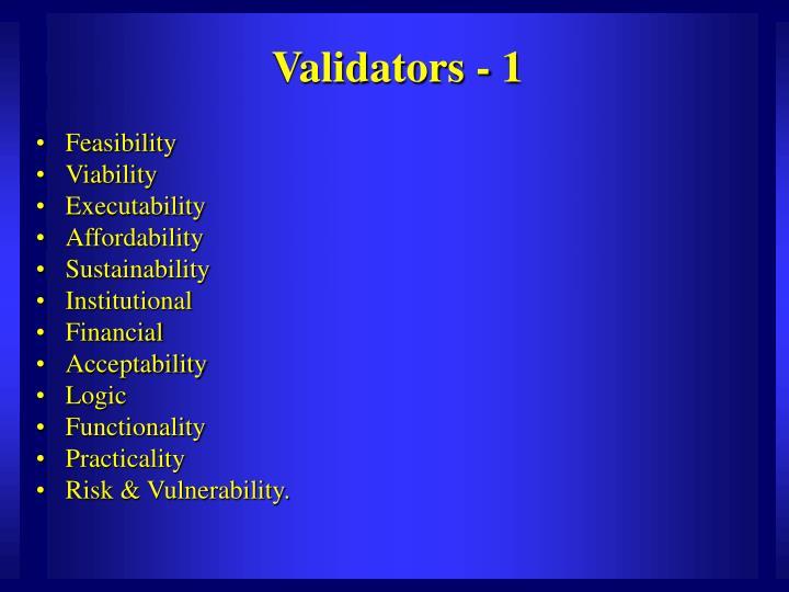 Validators - 1