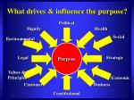what drives influence the purpose