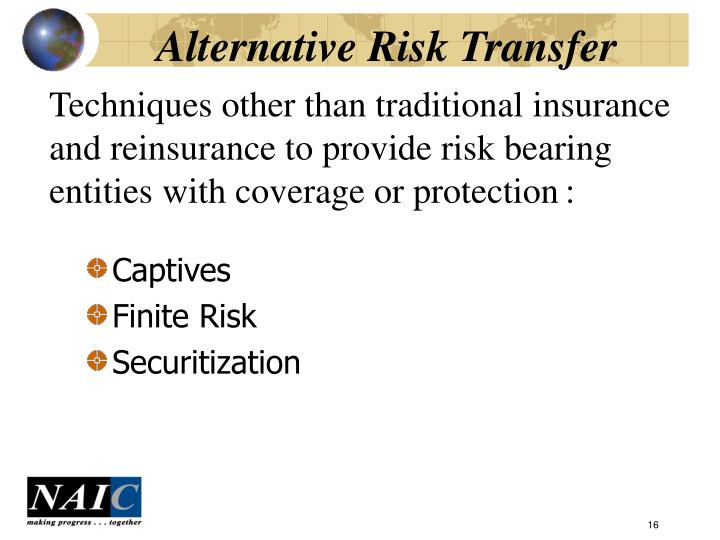 Alternative Risk Transfer