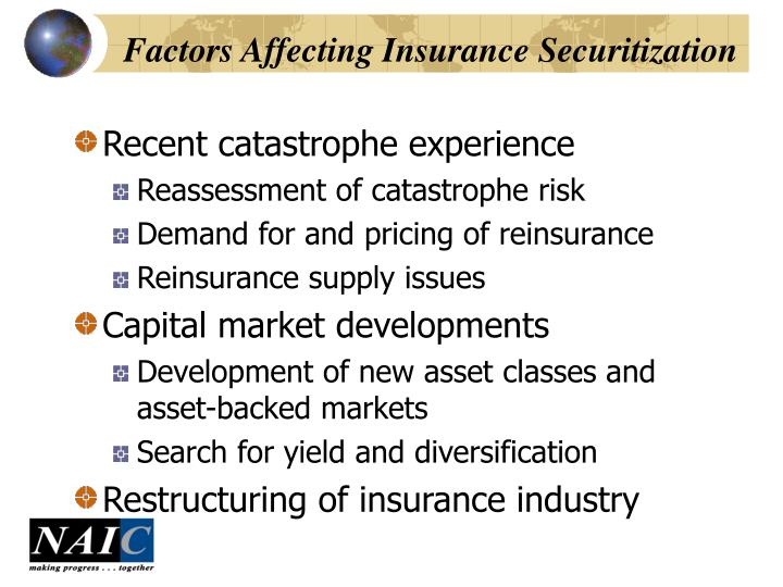 Factors Affecting Insurance Securitization