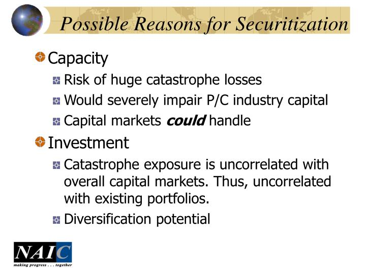 Possible Reasons for Securitization