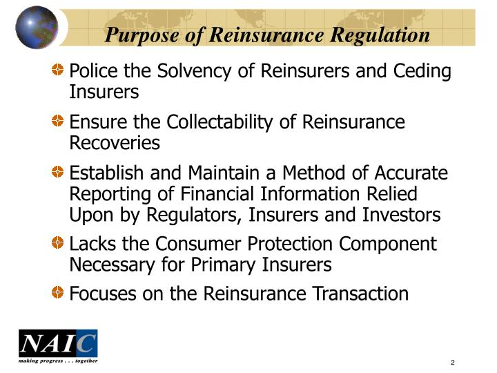Purpose of reinsurance regulation