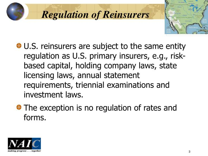 Regulation of reinsurers