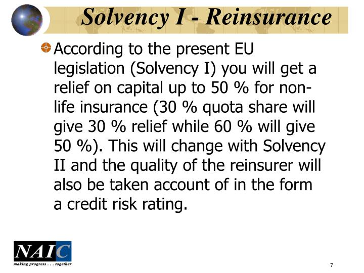 Solvency I - Reinsurance