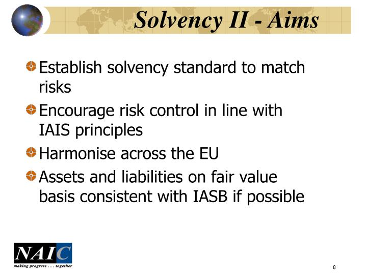 Solvency II - Aims