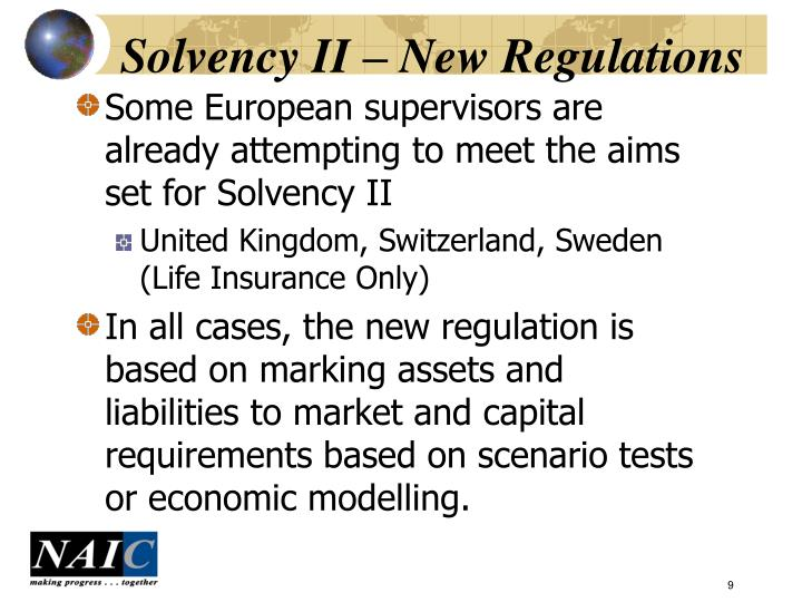 Solvency II – New Regulations