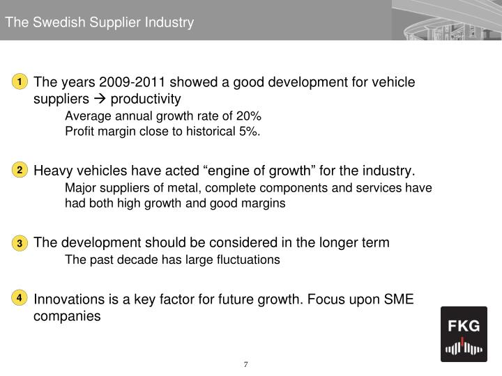 The Swedish Supplier Industry