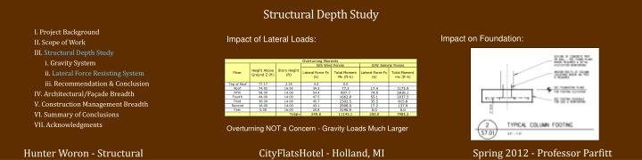 Structural Depth Study