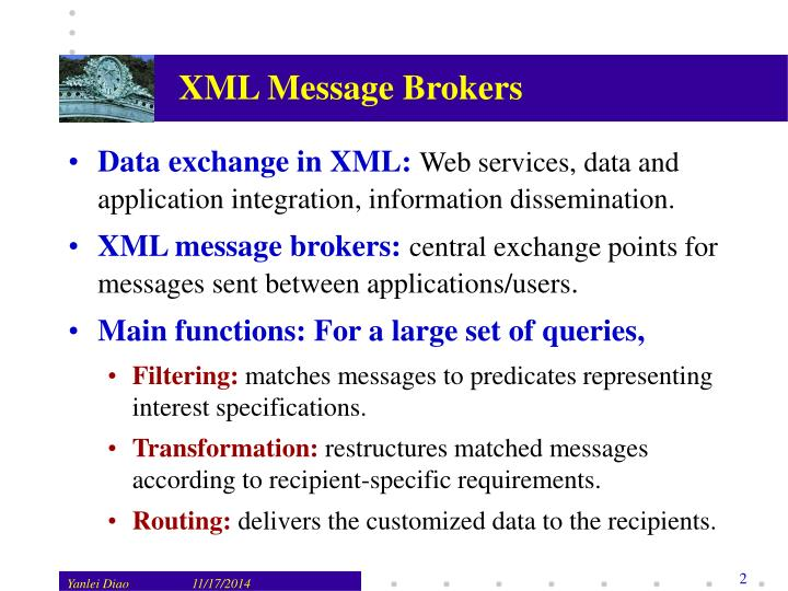 XML Message Brokers