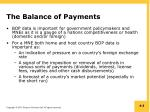 the balance of payments1