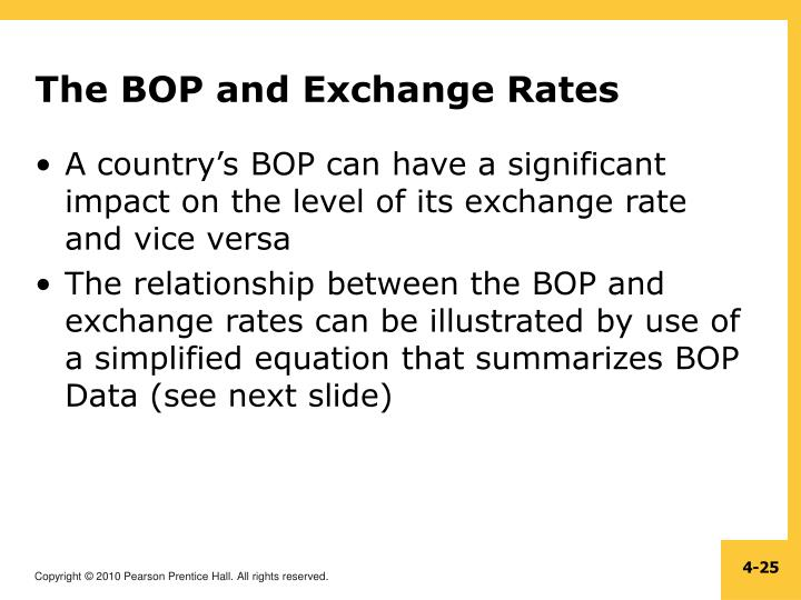 The BOP and Exchange Rates