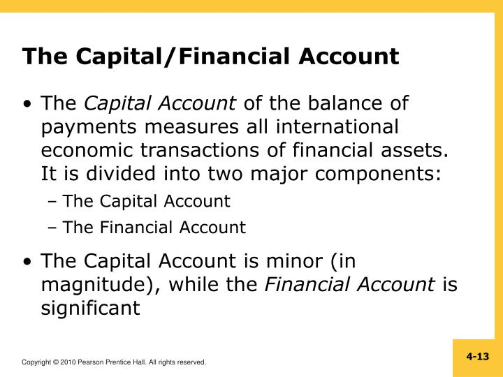 The Capital/Financial Account