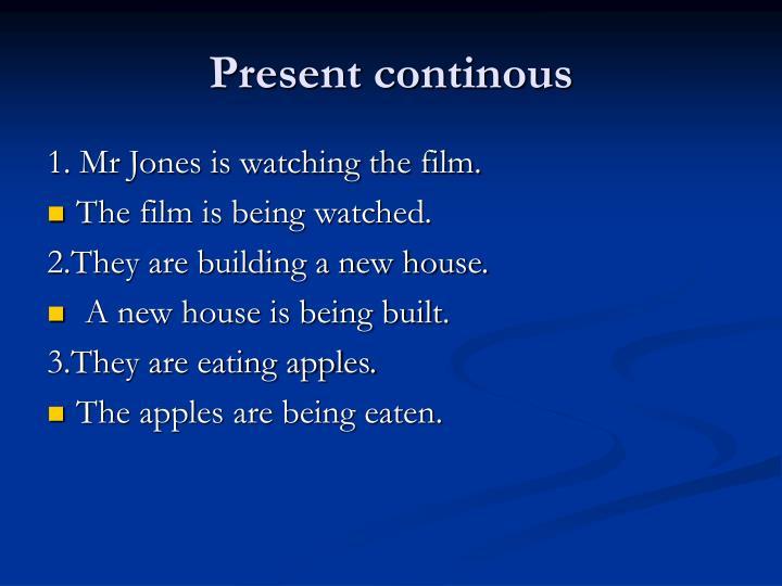 Present continous