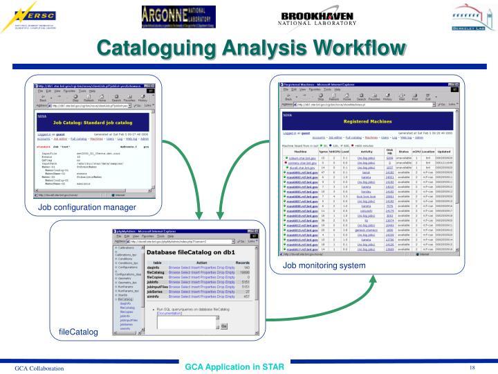 Cataloguing Analysis Workflow