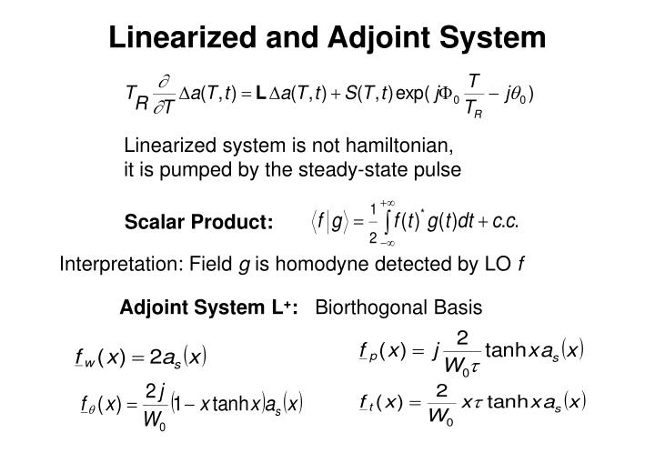 Linearized and Adjoint System
