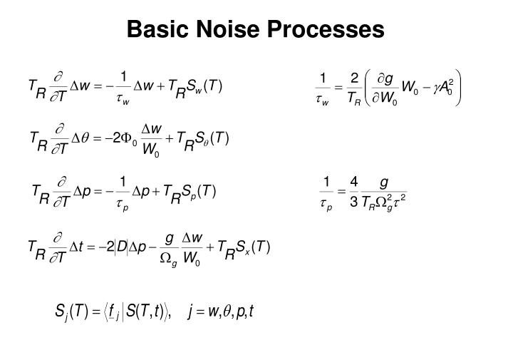 Basic Noise Processes