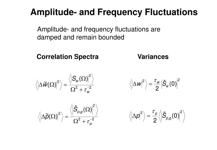 Amplitude- and Frequency Fluctuations