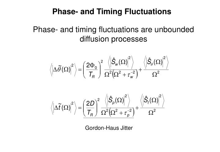 Phase- and Timing Fluctuations